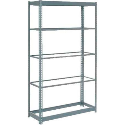 """Global Industrial™ Heavy Duty Shelving 48""""W x 18""""D x 96""""H With 5 Shelves - No Deck - Gray"""