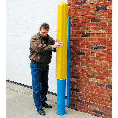 "Eagle Ribbed Bollard Post Sleeve 4"" Yellow, 1732-YL"