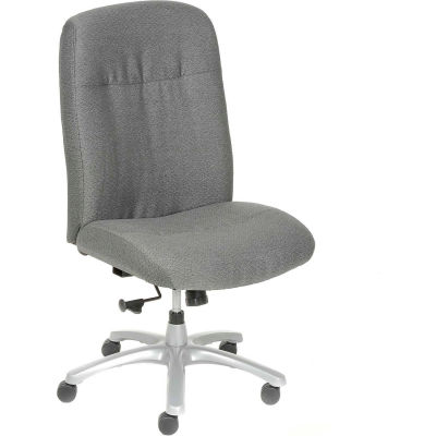 Interion® Big and Tall Chair - Fabric - High Back - Gray