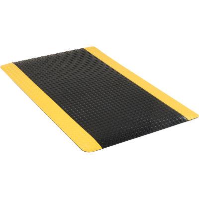 "Apache Mills Diamond Foot™ Diamond Plate Mat 15/16"" Thick 3' x 5' Black/Yellow Border"