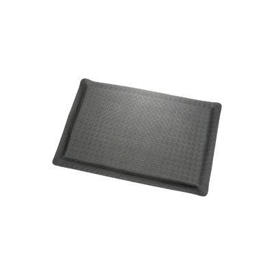 "Diamond Plate Ergonomic Mat 15/16"" Thick 36""W Cut Length 1Ft Up To 75Ft, Black"