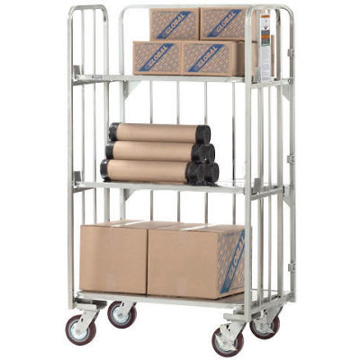 Best Value Folding Truck with Solid Tilting Shelves 2000 Lb. Capacity