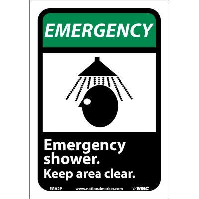 "Graphic Signs - Emergency Shower - Vinyl 7""W X 10""H"