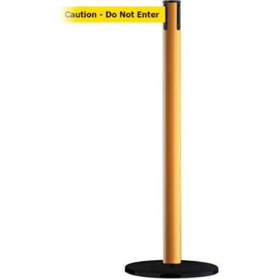 """Tensabarrier® Retractable Belt Barrier, 37"""" Yellow Post, 7-1/2' Yellow """"Caution"""" Belt"""