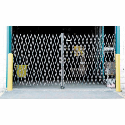 Double Folding Security Gate 16'W x 8'H