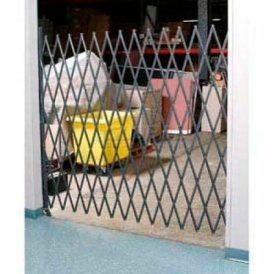 Single Folding Security Gate 5-1/2'W x 5'H