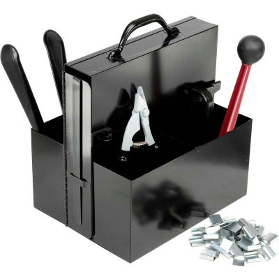 """Steel Strapping Kit With Two 3/4"""" x 200' Coils, Tensioner, Sealer, Cutter & Case"""