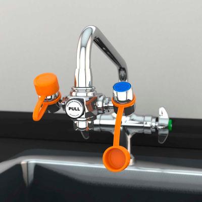 Guardian Equipment EyeSafe™ Faucet Mount Steel Eyewash Station, Assembled