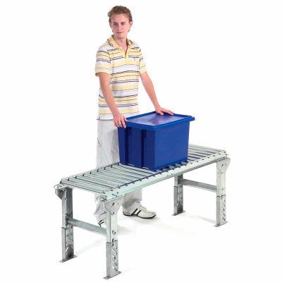 "Omni Metalcraft 1-3/8"" Dia. Aluminum Roller Conveyor Straight Section RAHS1.4-24-3-10"