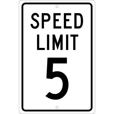 "Aluminum Sign - Speed Limit 5 - .063"" Thick, TM17H"