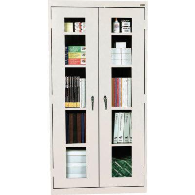 Sandusky Clear View Storage Cabinet CA4V362472 -36x24x72, Light Gray
