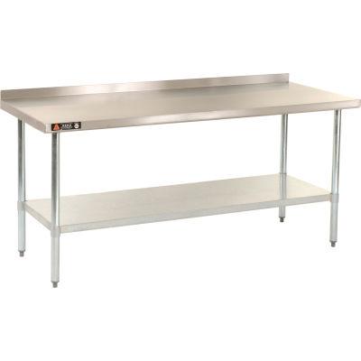 """Aero Manufacturing Workbench W/Undershelf, 18 Ga. 430 Series Stainless, 2-1/4"""" Backsplash, 36""""Wx24""""D"""