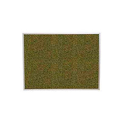 "Balt® Splash Cork Tackboard Aluminum Frame 48""W x 48""H, Green"
