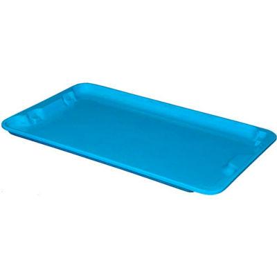 "Molded Fiberglass Toteline Nest and Stack Lid 780518 - 24-1/4"" x 14-3/4"", Blue - Pkg Qty 10"