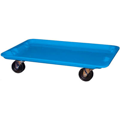 """Molded Fiberglass Toteline Dolly 780538 for 24-3/8"""" x 14-7/8"""" x 8"""" Tote, Blue"""