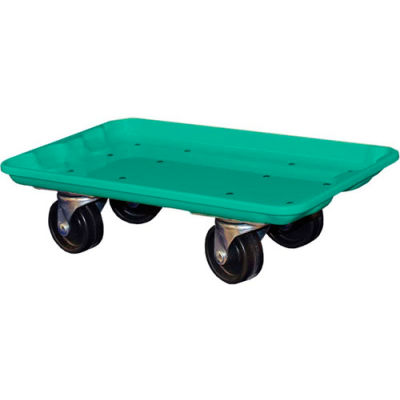 """Molded Fiberglass Toteline Dolly 780238 for 17-7/8"""" x10""""-5/8"""" x 5"""" Tote, Green"""