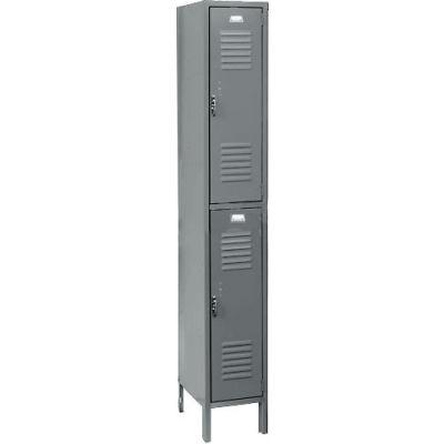 Penco 6211V-1-028KD Vanguard Locker Pull Latch Double Tier 12x12x30 2 Doors Unassembled Gray