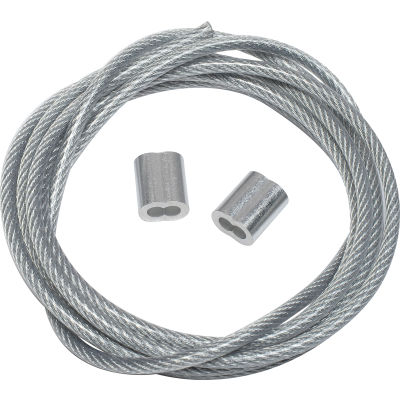 Global Industrial™ Steel Tie Down Cable 5'L Reinforced With End Loops for Outdoor Fixtures