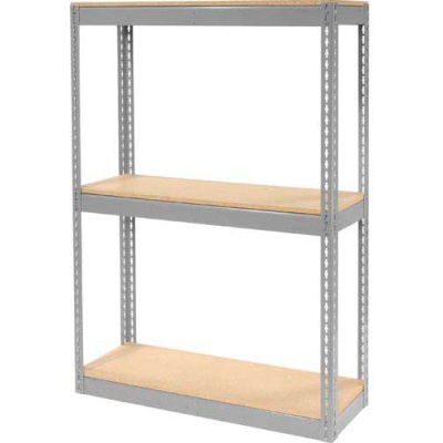 """Global Industrial™ Record Storage Rack Without Boxes 42""""W x 15'D x 60'H - Gray"""