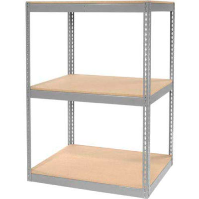 "Global Industrial™ Record Storage Rack Without Boxes 42""W x 30""D x 60""H - Gray"