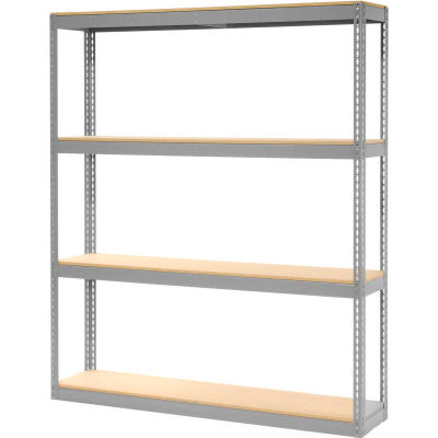 """Global Industrial™ Record Storage Rack Without Boxes 72""""W x 15""""D x 84""""H - Gray"""