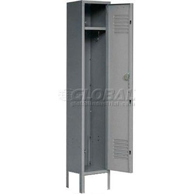 Paramount® Locker Single Tier 12x12x60 1 Door Ready To Assemble Gray