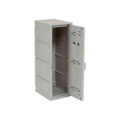"Remco Plastics Double Tier Box Plastic Locker, 12""Wx15""Dx36""H, Gray, Assembled"