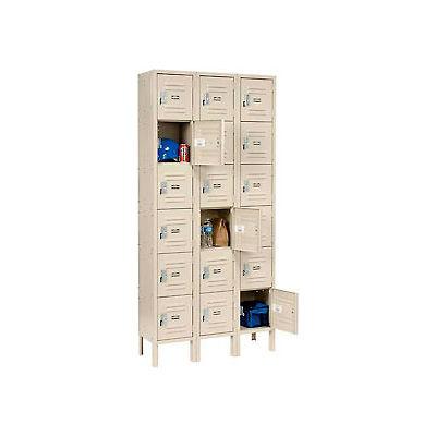 Paramount® Locker Six Tier 12x12x12 18 Door Assembled Tan
