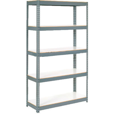 "Extra Heavy Duty Shelving 48""W x 24""D x 60""H With 6 Shelves, 1200 lbs. Capacity Per Shelf - Gray"