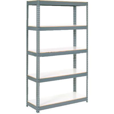 Global Industrial™ Extra Heavy Duty Shelving 48Wx24Dx60H 6 Shelves 1200 lbs. Cap. Per Shelf GRY