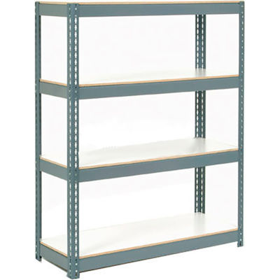 "Extra Heavy Duty Shelving 48""W x 24""D x 84""H With 6 Shelves, 1200 lbs. Capacity Per Level - Gray"