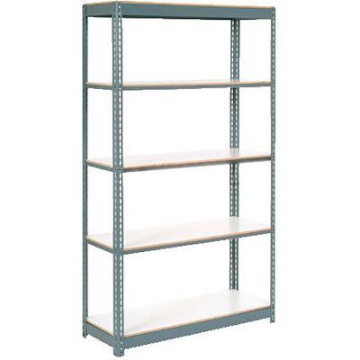 "Extra Heavy Duty Shelving 48""W x 24""D x 96""H With 5 Shelves, 1200 lbs. Capacity Per Shelf - Gray"
