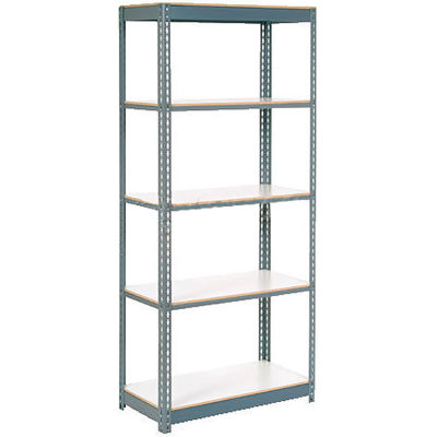 Global Industrial™ Extra Heavy Duty Shelving 36Wx18Dx96H 6 Shelves 1500 lbs. Cap. Per Shelf GRY