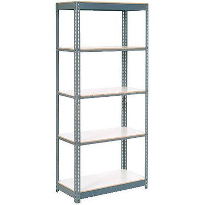 Global Industrial™ Extra Heavy Duty Shelving 48Wx12Dx96H 6 Shelves 1500 lbs. Cap. Per Shelf GRY