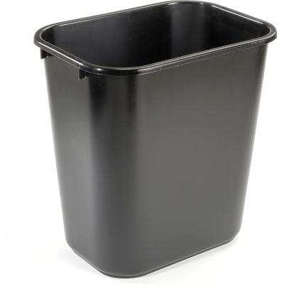 7 Gallon Rubbermaid Plastic Wastebasket - Black