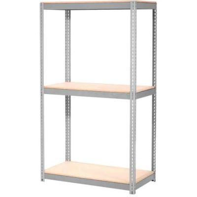 Global Industrial™ Expandable Starter Rack 48x12x84 3 Level Wood Deck 1500 lb. Cap Per Deck GRY