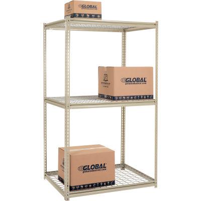 Global Industrial™ High Capacity Starter Rack 48x48x843 Levels Wire Deck 1500lb Per Shelf Tan