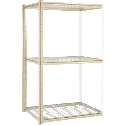Global Industrial™ High Capacity Add-On Rack 48x24x963 Levels Wire Deck 1500 Lb Per Level Tan