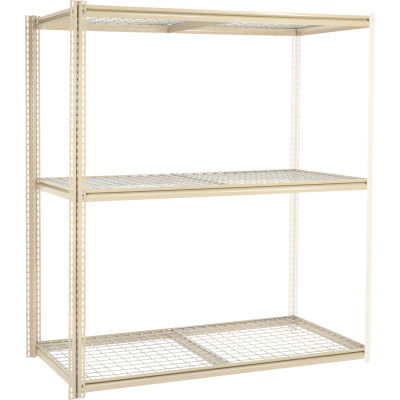 Global Industrial™ High Capacity Add-On Rack 72x24x963 Levels Wire Deck 1000 Lb Per Level Tan