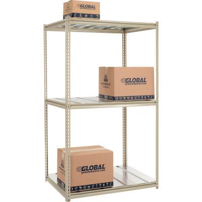 Global Industrial™ High Capacity Starter Rack 48x24x843 Level Steel Deck 1500lb Per Shelf Tan