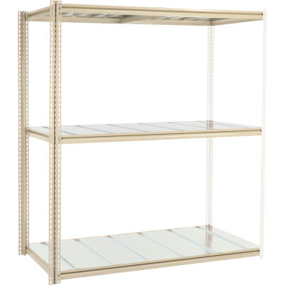 Global Industrial™ High Capacity Add-On Rack 72x36x963 Levels Steel Deck 1000lb Per Level Tan