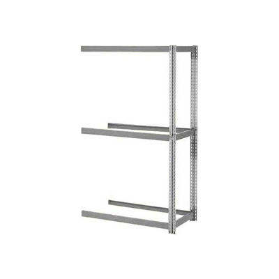 Global Industrial™ Expandable Add-On Rack 36x24x84, 3 Levels No Deck 1500lb Cap Per Level, GRY