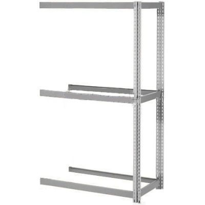 Global Industrial™ Expandable Add-On Rack 60Wx48Dx84H, 3 Levels No Deck 1000 Lb Per Level, Gray