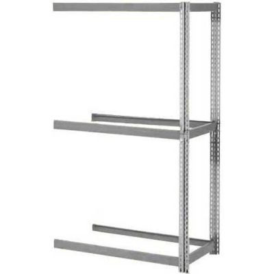 Global Industrial™ Expandable Add-On Rack 96Wx24Dx84H, 3 Levels No Deck 1100 Lb Per Level, Gray