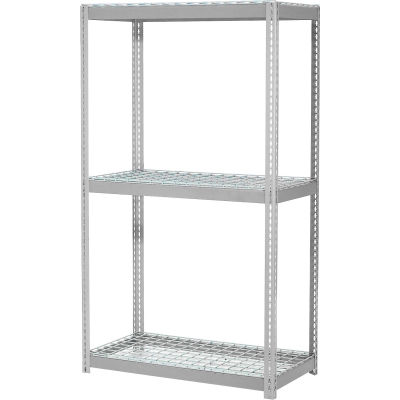 Global Industrial™ Expandable Starter Rack 60x36x84 3 Level Wire Deck 1000 lb. Cap Per Deck GRY