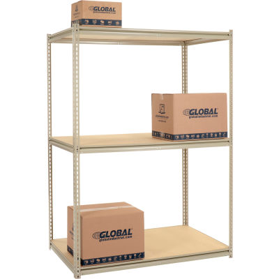 Global Industrial™ High Capacity Starter Rack 60x48x843 Levels Wood Deck 1300lb Per Shelf Tan