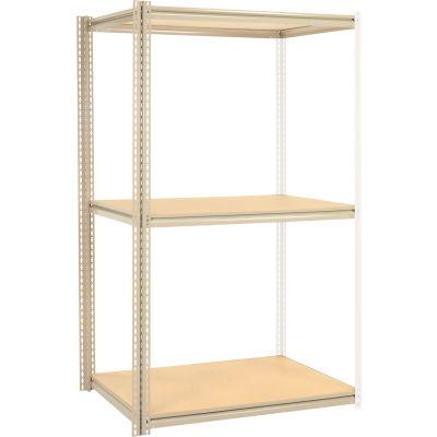 Global Industrial™ High Capacity Add-On Rack 48x36x963 Levels Wood Deck 1500 Lb Per Level Tan