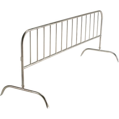 """Global Industrial™ Steel Crowd Control Barrier, 102""""L x 40""""H x 1-1/4""""D, Gray"""