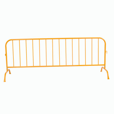 """Crowd Control Barrier Powder Coated Yellow 102""""L x 40""""H x 1-1/4"""" Dia."""
