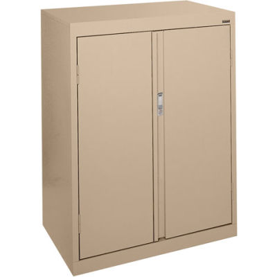 Sandusky System Series Counter Height Storage Cabinet HF2F301842 - 30x18x42, Sand